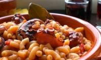 χταπόδι μακαρόνια νηστεία συνταγή