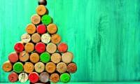 δέντρο φελλός DIY κατασκευή χριστούγεννα