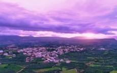 ρουμελί μωβ ηλιοβασίλεμα