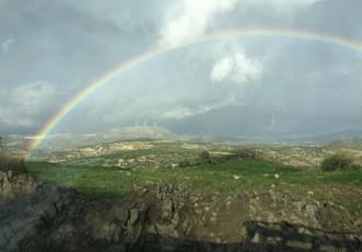 βροχή ουράνιο τόξο αγία βαρβάρα