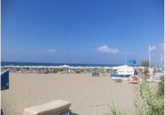 παραλία αμμουδιά καύσωνας ζέστη θάλασσα