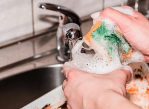 σφουγγαράκι απολύμανση μικρόβια