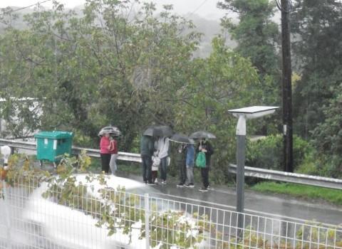 Δαριβιανά Στάση Λεωφορείο Σχολεία Μαθητές Κορωνοϊός
