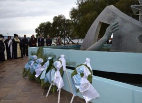 ναυάγιο ηράκλειο μνημόσυνο λαγωνικάκης ταμπακάκη διασωθέντες μνήμες