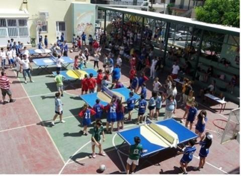 t-ball Χρήστος Γκιουζέλης ομαδικό άθλημα σχολικο πρωταθλημα Ηράκλειο