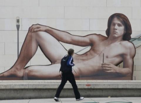 leopold museum πόστερ έκθεση γυμνοί άνδρες αφίσες