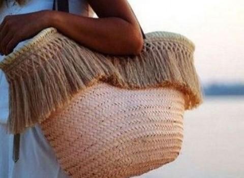 ψάθινη τσάντα καλοκαίρι αξεσουάρ