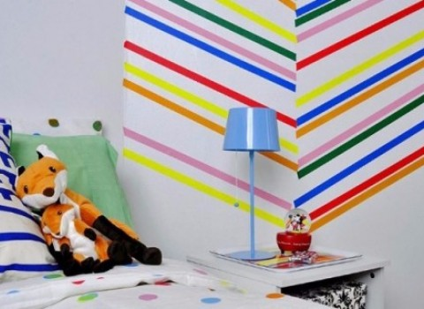 διακόσμηση σελοτέιπ δωμάτιο χρώμα