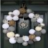 χριστουγεννιάτικος στολισμός μπάλες πόρτα