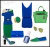 μπλε πράσινο μόδα ρούχα
